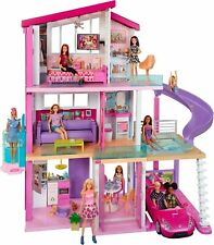 More details for barbie girls 3 storey doll dream house play set with accessory fhy73