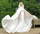 2020 Long Faux Fur White Bridal Hooded Cloak Cape Winter Wedding Dress Wraps