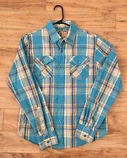 Graphite Men's size medium long sleeve plaid dress shirt button up,