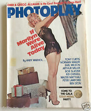 Marilyn Monroe Photoplay MAGAZINE SEPTEMBER 1975 Pinup Cover Black Camisole