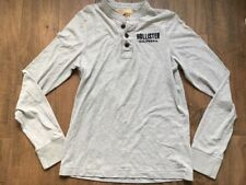 Mens Large Hollister Henley Jumper Size L