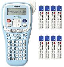 BROTHER Beschriftungsgerät P-touch PT-H100LB Schriftband TZ 3.5 6 9 12 + 8 x AAA
