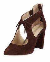 Adrienne Vittadini Women's Brown Suede Heels SIze 5.5 Pointed Toe, Nigel $125