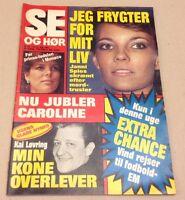 "Princess Caroline Monaco Royals Before Birth Danish Magazine 1984 ""Se og Hoer"""