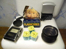 Vintage Yashika Promaster DSB Lens Gossen S3303 Light Meter GE Flash Cubes Flash