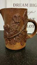 Bernard Rooke  pottery jug owls tankard