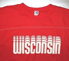Wisconsin Badgers / Made In Usa / Artex Vintage Red Sweater / Red Shirt Size M