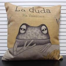 Pillow Case Cover Frog Design Cotton Linen Pillow Case Square Cushions 43cmx43cm