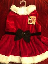 DOG OUTFIT | ELEGANT CHRISTMAS DRESS VELVET |  FURRY TRIMS | Large