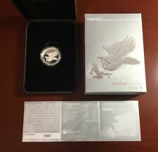 2015 Silver Wedge Tailed Eagle High Relief w Original Mint Packaging. Lot H