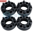 """4Pcs 2"""" 6 Lug Black Hub Wheel Spacers Adapters 6x135 fits Ford F-150 Expedition"""