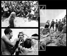 MYLENE DEMONGEOT MARINA VLADY Star Paparazzi Venise Cannes 3 Photos 1950s