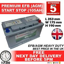 019 Start Stop EFB (AGM) Enduroline 12V 105Ah VRLA Car Battery - Mercedes etc