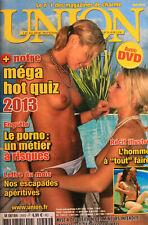 """UNION - 299 - 2013 - le porno, un métier a risques - l'homme a """"tout"""" faire"""