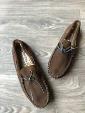 NEW Minnetonka Men's Casey Pile Lined Slippers Chocolate Brown Size 10/11