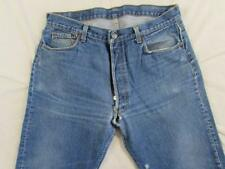Vtg 80s Levi 501 USA Made Button Fly Faded Denim Transition Jean Measure 35x31