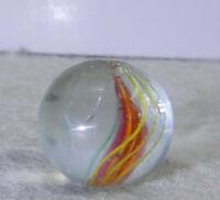 #11425m-2 Vintage German Handmade Ribbon Swirl Marble .70 Inches *Near Mint*