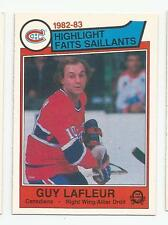 1983 84 OPC #183 GUY LAFLEUR HIGHLIGHTS MONTREAL CANADIENS O-PEE-CHEE