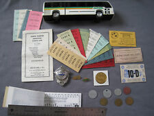 Full Collection of North Olmsted Transit Items - Badge, Tokens, Bank, Tickets