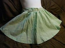 Vintage 50s Girls Childs Skirt 4-5 Pastel Green Spring Cotton