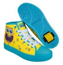 Heelys Hustle Spongebob Edition Wheeled Shoes - Light Yellow/Deep Aqua/ Seaweed