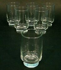 6 MiD CENTURY CLEAR STREAMLiNE ATOMiC LOW FOOTED 10oz COCKTAiL GLASSES TUMBLER