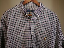Ralph Lauren Plaid Long Sleeve Shirt Button size 2XB Blue Green Blue