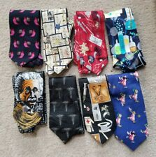 8 Lot Medical & Science Novelty Ties Steven Harris, Museum Artifacts and more