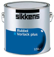 (22,80€/ L)Sikkens Rubbol Vorlack Plus weiss 2,5L , alkydharz