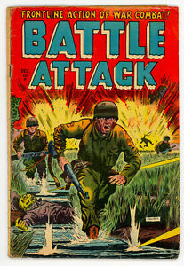 JERRY WEIST ESTATE: BATTLE ATTACK #2 (Stanmor 1952) VG- condition NO RES