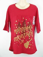 Hannah Montana Glitter Guitar Music Band Graphic T-Shirt Girls XL New