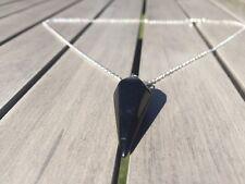 Crystal Pendulum Healing Chakra Dowsing Reiki Pendant Chain Necklace Onyx