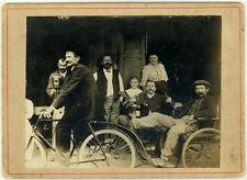 Photo Anonyme Musicien Café Caméra Caméraman Bicyclette Vers 1900