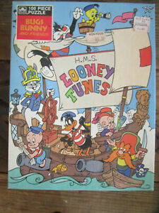 Vintage 1983 H.M.S. LOONEY TUNES 100 Pc Jigsaw Puzzle Bugs Bunny Warner Brothers