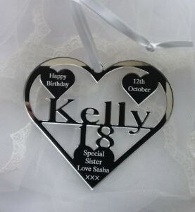 18TH BIRTHDAY GIFT PERSONALISED WITH NAME ,KELLY BIRTH DATE, KEEPSAKE HAND MADE