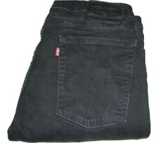 Mens LEVI'S 510 PREMIUM Black (0857) Skinny Fit Stretch Denim Jeans W34 L32
