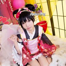 Anime Cosplay Love Live! Yazawa Nico Fancy Women Short Black Hair Wig+Buns