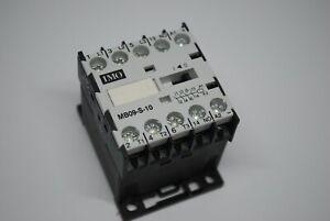 IMO MB09-S-10 Mini Contactor 3 Pole NO 4A 4KW 9A, 1 NO Aux 380-400V 50Hz Coil