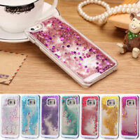 For Samsung Galaxy S7 S6 S8 Plus Bling Glitter Star Liquid Hard Back Case Cover