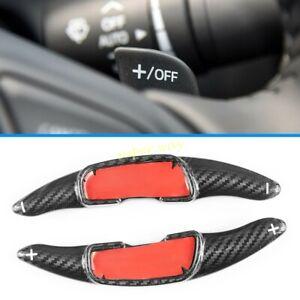 Black Carbon Fiber Car Steering Wheel Paddle Shifter Extension For Mazda 3 6 MX5