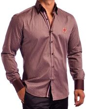 Luxury Brown Dress Shirt - Mondo Jeans 762110 in sizes XL and 2XL