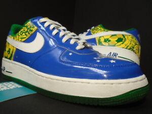 06 NIKE AIR FORCE 1 PREMIUM RONALDINHO BRAZIL WORLD CUP BLUE GREEN 313983-411 11