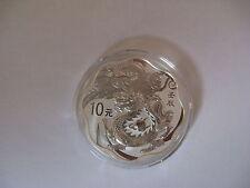 2012 1 oz Silver China Lunar series Dragon Scallop Coin w/ Box and COA