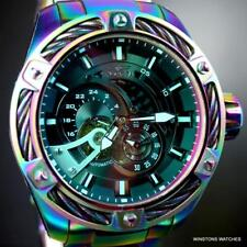 Invicta Bolt Predator Iridescent Steel Tinted Crystal Automatic 52mm Watch New