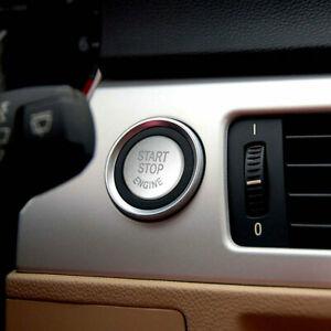 For BMW E Chassis E90 E60 Engine Start Switch Ignition Button Cap Silver Trim