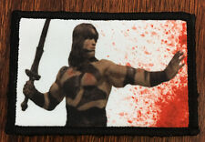 Conan The Barbarian Camo Morale Patch  Tactical Military Army Badge Hook Flag