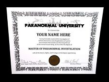 PARANORMAL UNIVERSITY ghost hunting DIPLOMA Investigation haunted doll EMF house