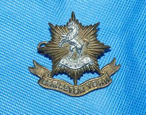 Military Army Cap Badge with Lugs - Carleton York Regiment