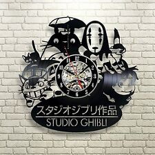 Studio Ghibli Anime_Exclusive wall clock made of vinyl record_GIFT