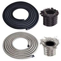 Nylon Stainless Steel Braided Brake Gas/Oil/Fuel Line Hose AN4/AN6/AN8/AN10/AN12